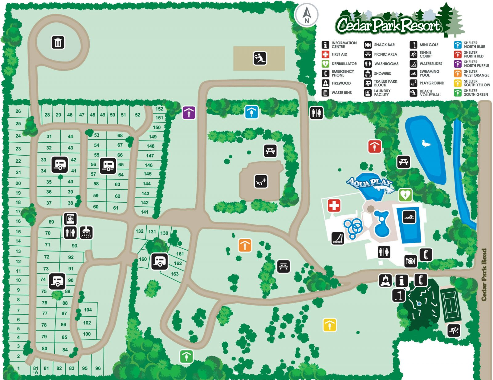 Park Map - Cedar Park Resort