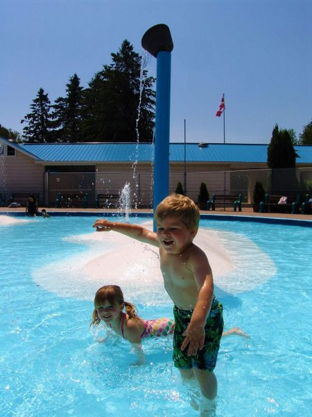 child in kids pool