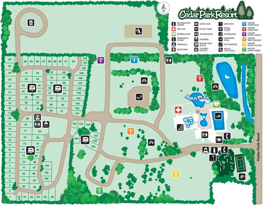 Cedar Park Site Map
