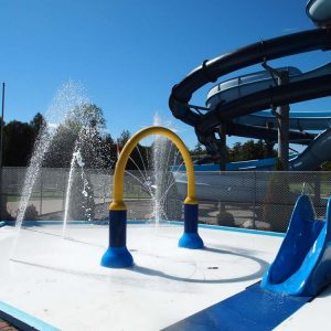 Splash pad and smaller slides