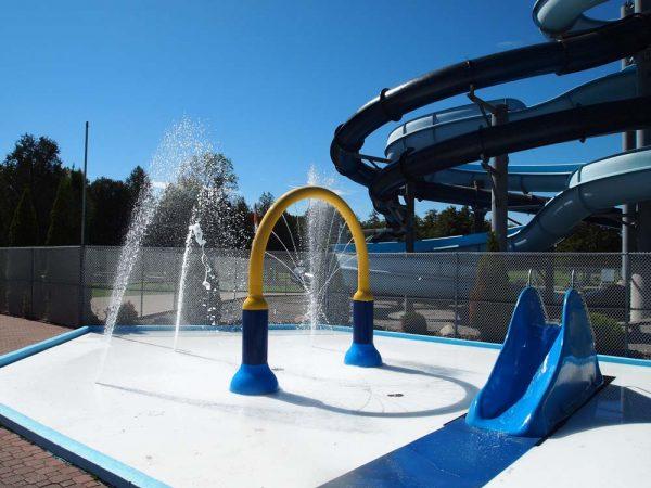 Splash pad and smaller slides